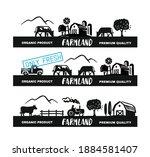 village long emblem with text.... | Shutterstock .eps vector #1884581407