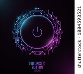 futuristic power button with...