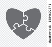 simple icon of heart puzzle in...