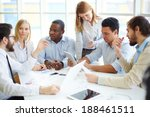 group of confident business... | Shutterstock . vector #188461511