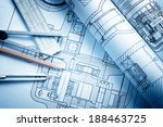 industrial drawing detail and... | Shutterstock . vector #188463725