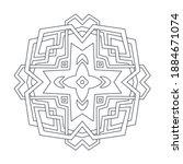 ornament of broken lines and... | Shutterstock .eps vector #1884671074