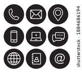 contact us icon set in line... | Shutterstock .eps vector #1884686194