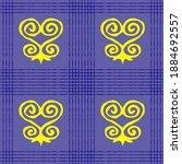 seamless vector authentic...   Shutterstock .eps vector #1884692557
