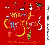 christmas card | Shutterstock .eps vector #188476631