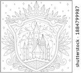 fantasy castle kingdom in the... | Shutterstock .eps vector #1884799987