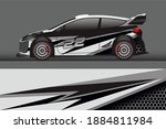 ready to use print wrap design... | Shutterstock . vector #1884811984