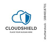 cloud shield vector logo... | Shutterstock .eps vector #1884818701