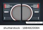 grey marketing agency themed... | Shutterstock .eps vector #1884820084
