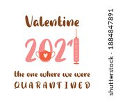 covid valentines day 2021.... | Shutterstock .eps vector #1884847891