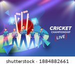 live cricket championship... | Shutterstock .eps vector #1884882661