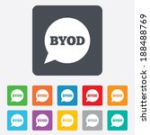 byod sign icon. bring your own... | Shutterstock . vector #188488769
