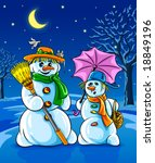 vector illustration winter... | Shutterstock .eps vector #18849196