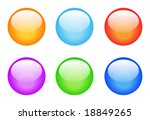 set of glassy buttons for... | Shutterstock . vector #18849265
