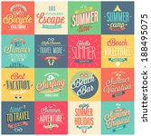 summer set   labels and emblems. | Shutterstock .eps vector #188495075