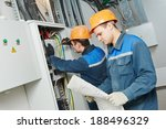 two electrician builder... | Shutterstock . vector #188496329