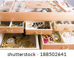 gold jewelry in jewelry boxes | Shutterstock . vector #188502641