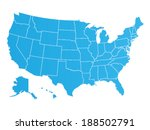 united states of america map... | Shutterstock .eps vector #188502791