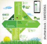 modern ecology design layout | Shutterstock .eps vector #188503061