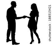 Couple Man And Woman Handshake...