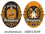 beer labels with the mill and... | Shutterstock .eps vector #188515649