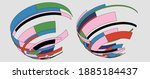 vector fashion colorful ribbons ... | Shutterstock .eps vector #1885184437