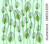 botanical wall art vector.... | Shutterstock .eps vector #1885213234