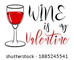 funny sarcastic valentines day... | Shutterstock .eps vector #1885245541