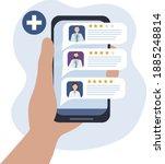 choosing a doctor through a...   Shutterstock .eps vector #1885248814