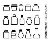 jar icons set. black silhouette ... | Shutterstock .eps vector #188540024