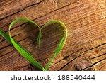 blade of grass as heart | Shutterstock . vector #188540444