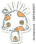 worn old sticker of a tattoo...   Shutterstock .eps vector #1885469857