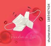 valentine's day vector... | Shutterstock .eps vector #1885487434