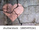 A Broken Heart. Drawing Of A...