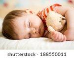 infant baby boy sleeping | Shutterstock . vector #188550011