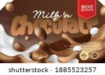 3d realistic chocolate and...   Shutterstock .eps vector #1885523257