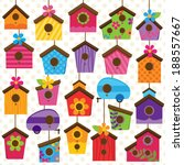 vector set of cute and colorful ... | Shutterstock .eps vector #188557667