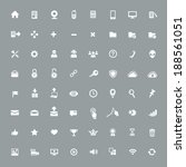 64  useful app icons | Shutterstock .eps vector #188561051