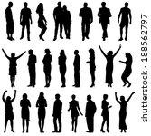 black silhouettes    Shutterstock . vector #188562797