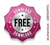 purple free download badge on...