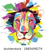 the lion  panthera leo  is a...   Shutterstock .eps vector #1885698274