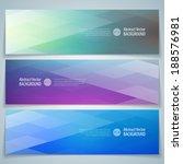 geometric banner. abstract... | Shutterstock .eps vector #188576981