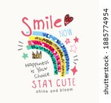 colorful smile slogan with... | Shutterstock .eps vector #1885774954