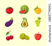 a collection of vector...   Shutterstock .eps vector #1885779091