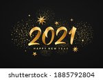 2021 happy new year  gold...   Shutterstock .eps vector #1885792804