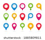 set of colorful pointers.... | Shutterstock .eps vector #1885809811