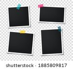 set of retro photo frames with... | Shutterstock .eps vector #1885809817
