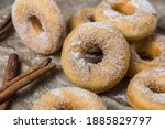 Closeup Of Mini Donuts With...