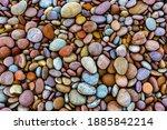 Colourful Pebbles On A Beach