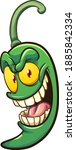 cartoon green jalapeno pepper... | Shutterstock .eps vector #1885842334